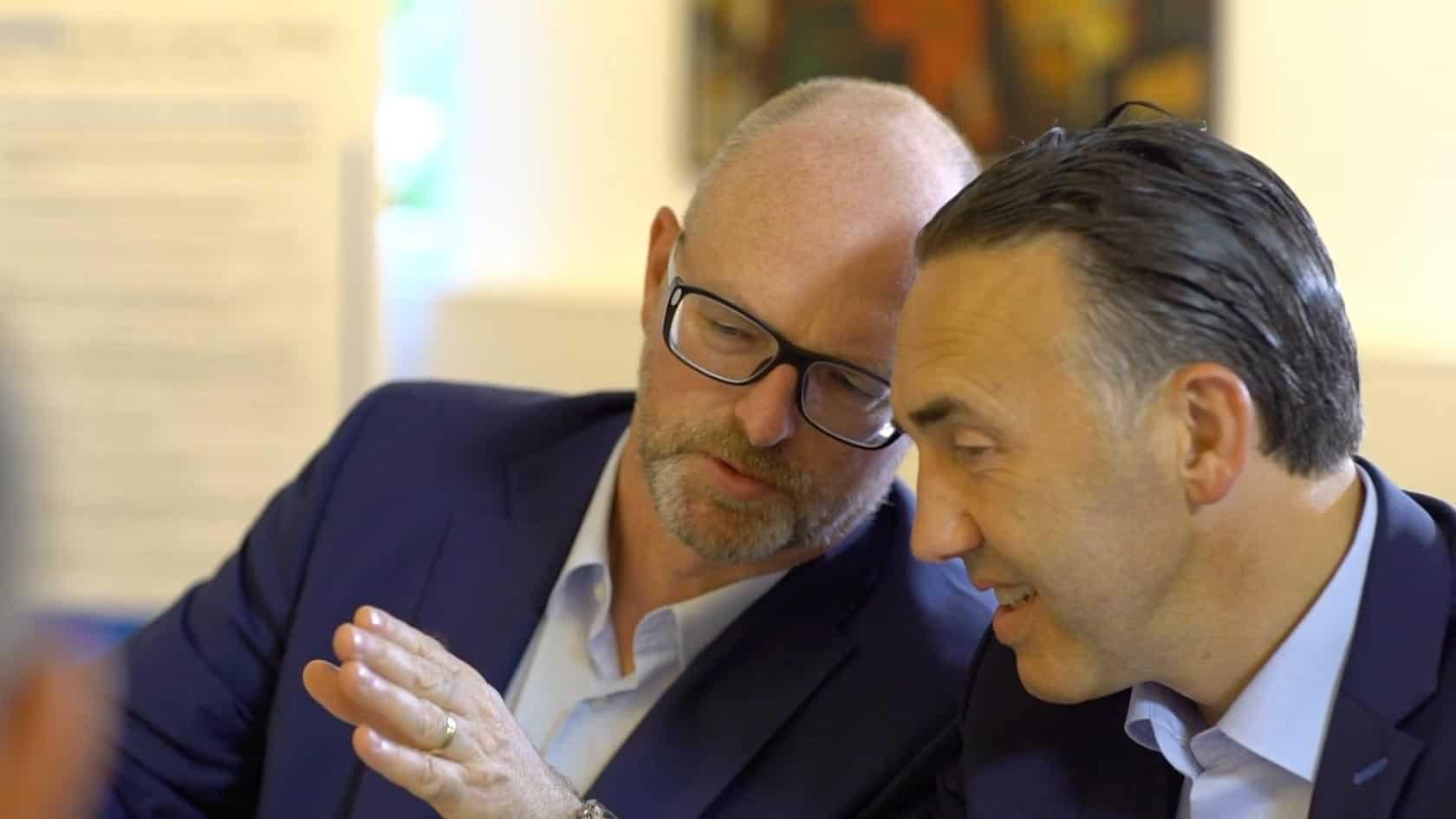 Partnerzy KERN Karl Rehfuß i Ralf Harrie w rozmowie